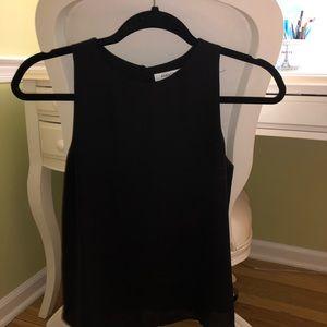Aritzia cropped black sleeveless blouse